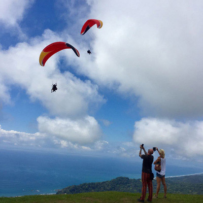 tandem paraglider ride dominical